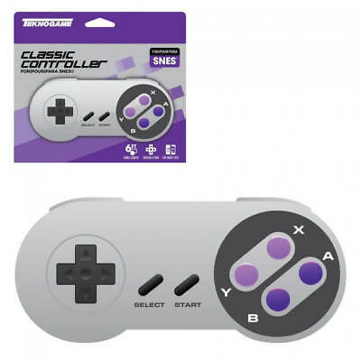 Super Nintendo Wired Controller for SNES PurpleButtons - ̗̀ NEW ̖́- in the Box