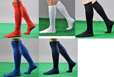 New Mens Ladies Football Socks Soccer Hockey Rugby Sports Plain Long Sock