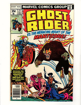 Ghost Rider #27 (1977, Marvel) VF Hawkeye & Two-Gun Kid App Jim Shooter