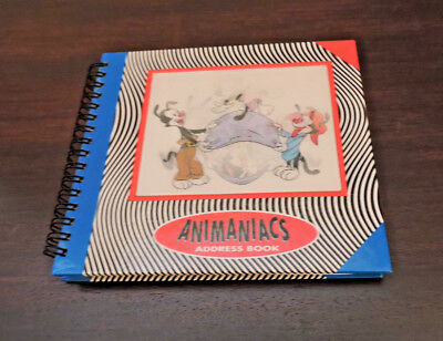 """Warner Brothers """"Animaniacs"""" Address Book w/""""holographic"""" cover"""