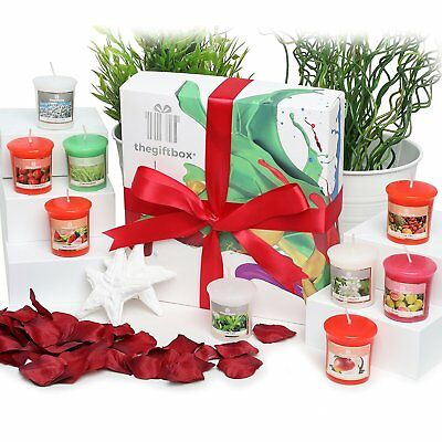 A Luxurious Scented Candles Gift Set by The Gift Box Containing 9 Individual
