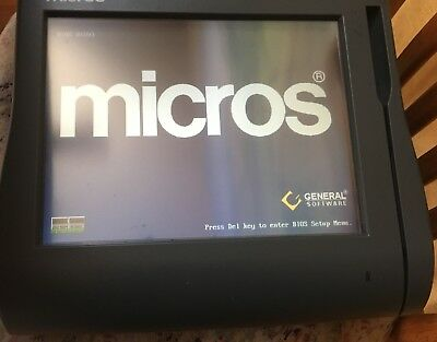 "Micros Workstation 4 LX POS System Unit 400714-001 12.1/"" Touchscreen Used"