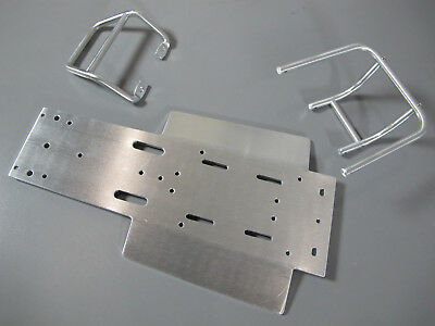cover plate Tamiya 1//10 Sand Scorcher Front /& Rear Bumper Guard+Chassis A Plate