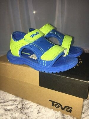 d474a3273ec1 TEVA PSYCLONE XLT Sandals Toddler Boys Size 10 Navy Blue Green ...