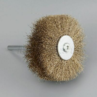 Steel Wire Brush Polishing Wheel For Dremel Grinding Power Rotary Tool 6mm Shank