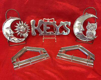 Collection of Five Pewter Keyholders