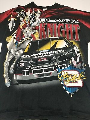 abca7ab256c3 Dale Earnhardt Vintage 90's Black Knight GM Goodwrench Racing Nascar  T-Shirt XL