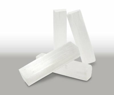 2 x Selenite  Satin Spar Beam Wand Pieces Crystal Healing Natural Stone