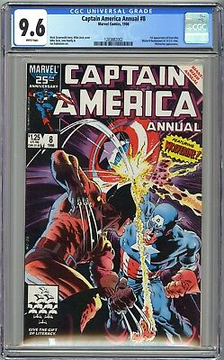 Captain America Annual #8 - Cgc 9.6 Wp Nm+  Wolverine Cover Mike Zeck