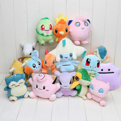 Pokemon Go Plush Doll Soft Toy Pikachu Psyduck Flareon Collectible Play Gift