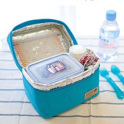 Portable Insulated Thermal Cooler Bento Lunch Box Tote Picnic Storage Bags Pouch
