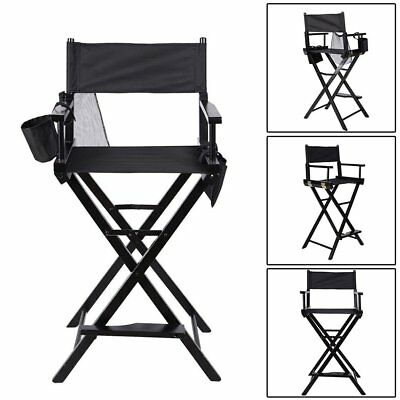 BLACK IN LEGNO PIEGHEVOLE MAKEUP ARTIST Movie Cinema studio regista SEDIA RT