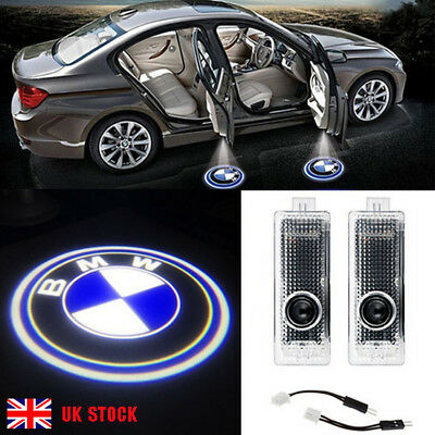 2x BMW LED Courtesy Laser Welcome Projector Logo Shadow Car Door Lights Lamps
