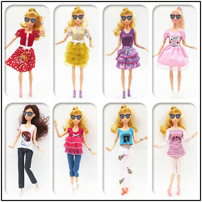 7pcs Handmade Summer Doll Clothes Dress Pants Suit For Doll Kids To Zccj