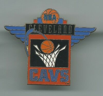 NBA Cleveland Cavaliers Winged Pin Peter David, Inc. 1994 Basketball OOP CAVS