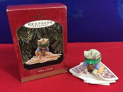 Hallmark Ornament What a Deal! Mouse Playing Cards 1997 D3