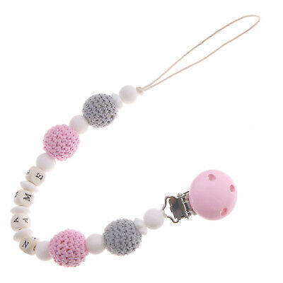 ED Baby Boy Girl Chain Clip Holder Mix Bead Pacifier Dummy Soother Nipple Strap