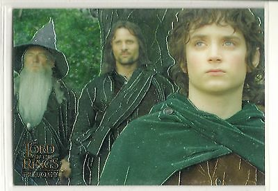 2004 LORD of the RINGS Trilogy  trading cards(Topps)  Chrome PROMO Card #P1