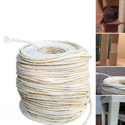 Natural 5/10/20M Sisal Rope Cat Scratching Post Claw Control Toy Thick Rope Gift