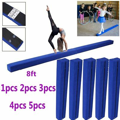 1~5 8ft Sectional Gymnastics Floor Balance Beam Skill Performance Training LOT Y