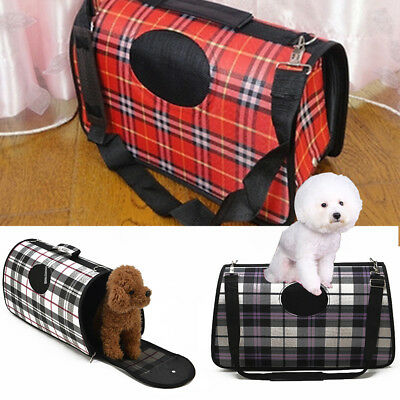 Portable Pet Dog Cat Travel Carrier Tote Cage Bag Kennel Crates Box Holder