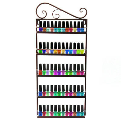 Metal Nail Polish Mountable 5 Tier Organizer Display Rack Bronzer Pick Up Only