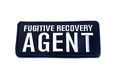 Fugitive Recovery Agent 3D Tactical Morale Badge Embroidered Hook Loop Patch *02