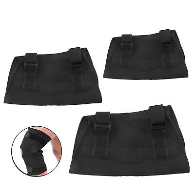 Adjustable Open Cap Patella Knee Support Pad Strap Brace with Metal Hinged