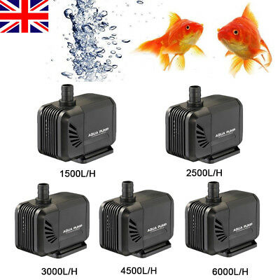 Submersible Fish Water Pump Pond Aquarium Tank Waterfall Fountain Sump UK Plug