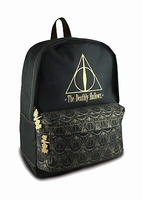 Official HARRY POTTER Deathly Hallows Backpack Hogwarts Movie Merch Brand New UK