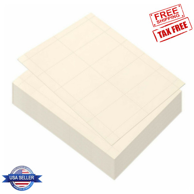 100 Sheets Blank Business Card Paper Ivory 1000 Stock for Inkjet Laser Printers