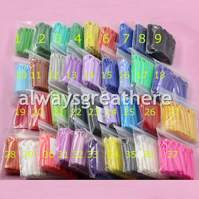 1Pack/1040Pcs Dental Orthodontic Ligature ties Elastic Rubber Bands 37 Colors