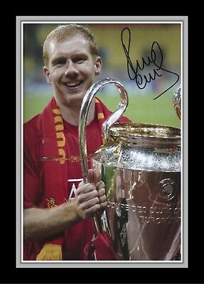 Collectors/Photograph/Print/7 x 5 Photo/Manchester United Paul Scholes Signed