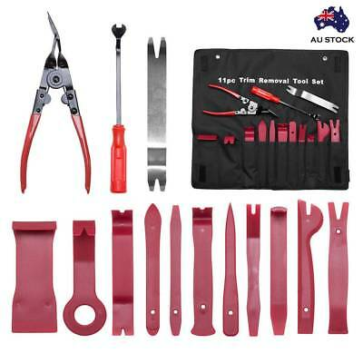 14/19X Car Door Panel Trim Clip Removal Plier Upholstery Radio Pry Bar Tool Kit