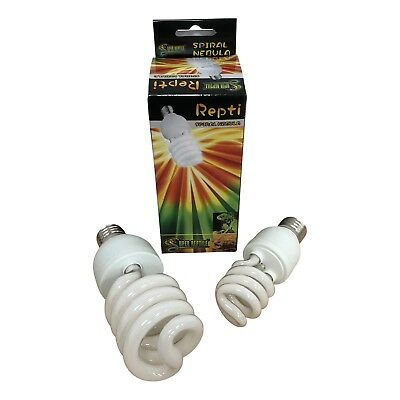 Reptile UV Spiral Bulb for Vivarium Snake UVB 2.0 / 5.0 / 10.0 E27 13w Or 26w