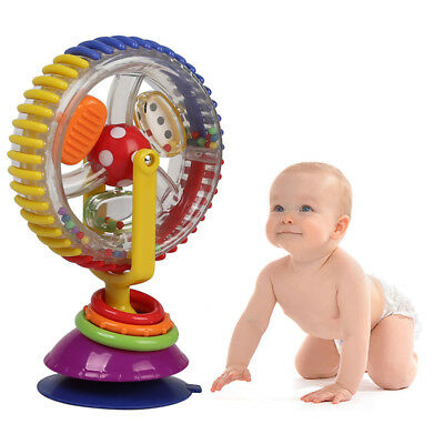 Funny Baby Rainbow Ferris Wheel Toys Rattle Clanking Suction High Chair Toys UK
