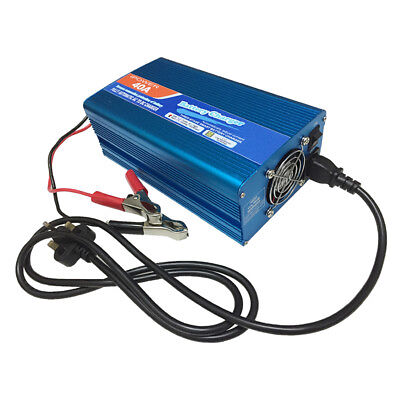 12V 40A Leisure Battery Charger 40 Amp AC 230V to DC 12V 40A Car Boat Caravan