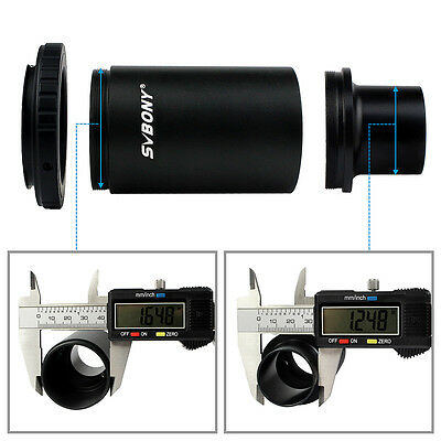 "1.25"" Extension Tube M42x0.75 Thread T-Mount Adapter +T2 Ring  Lens Adapter DSLR"