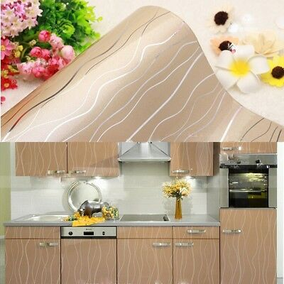 Gloss Self-adhesive Contact Paper Champagne Wallpaper Furniture Refacing Film