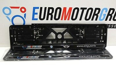Bmw License plate Holder 2X front and back 520X110 mm Silicone cover BMW MINI