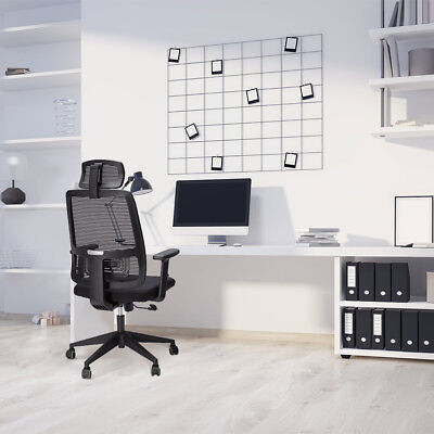 SLYPNOS Ergonomic High-Back Mesh Executive Office Chair +Adjustable Seat Height