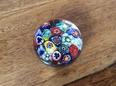 Small Millefiori Art Glass Paperweight - unsigned
