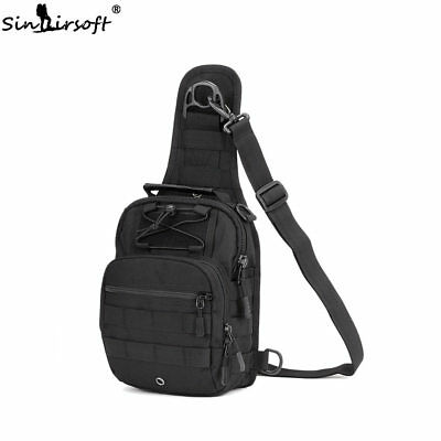 Mens Molle Tactical Sling Chest Bag Assault Pack Messenger Shoulder Backpack