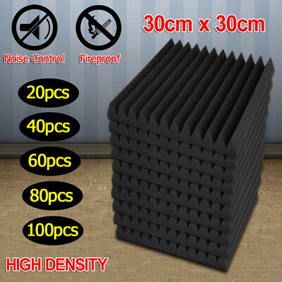 20-100X Studio Acoustic Foam Panel Tile Sound Absorption Proofing Treatment Wedg