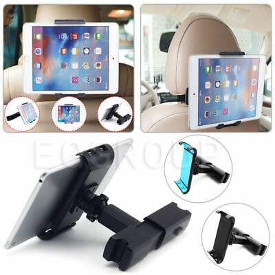"AU Rotate Car Seat Back Headrest Mount Holder Clip For iPad 7"" - 10.1"" Tablet"