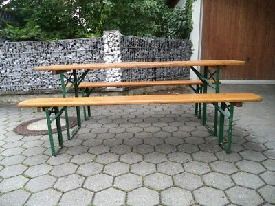 Superb German Vintage Beer Table 2 Bench Seats Folding Ideal For Evergreenethics Interior Chair Design Evergreenethicsorg