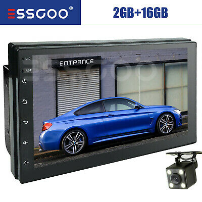 2 Din 7'' Car Autoradio Android 8.0  Navigatore GPS Bluetooth WIFI USB/FM Mirror