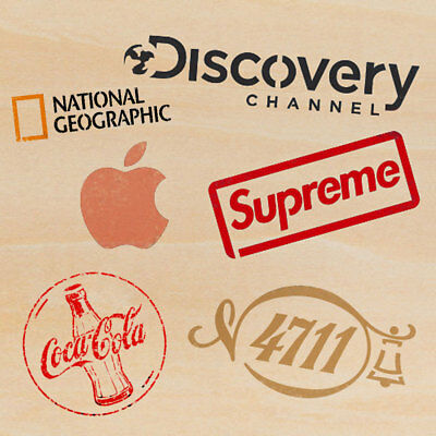 Stencils Airbrush Painting Decorative Wall Art Home Décor apple Supreme Cocacola