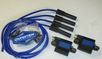 Blue Yamaha XJR1300 3 ohm Dyna Performance Ignition Coils and Taylor Leads