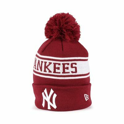 New Era New York Yankees Seasonal Jake Beanie - Cardinal / Off White
